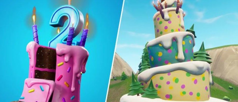 Stupendous Fortnite Birthday Cake Locations Where To Dance In Front Of Birthday Cards Printable Riciscafe Filternl