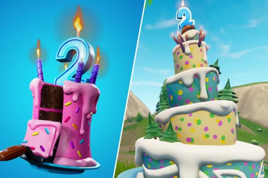 Fortnite Birthday Cake Locations Where To Dance In Front Of Different Birthday Cakes Game Thought Com